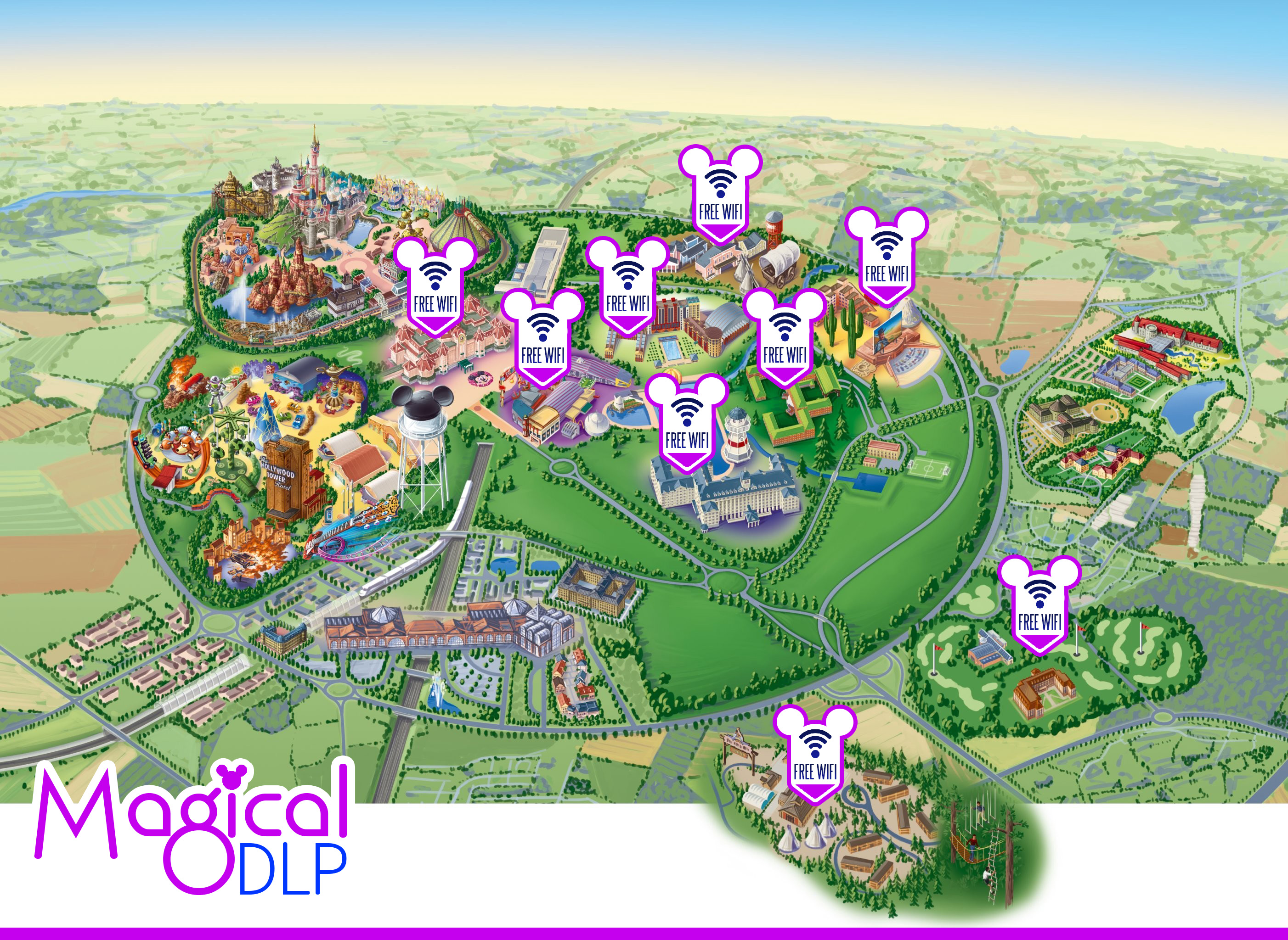 Free WiFi at Disneyland Paris Where Can You Find It Magical – Map of Paris with Hotels
